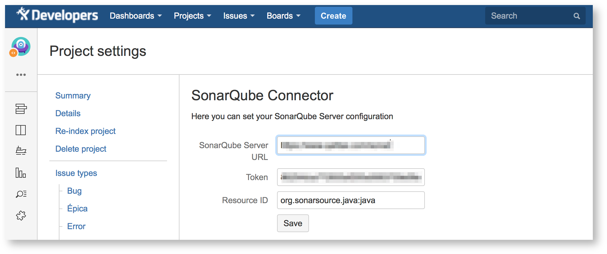 Configuration - SonarQube Connector for Jira - Confluence